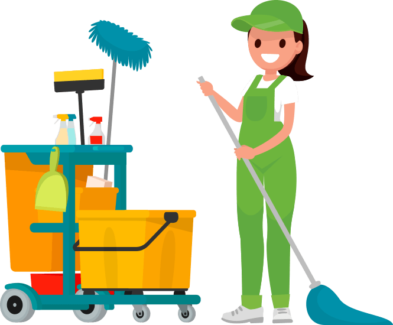 Janitor clipart transparent. Lily cleaning at home