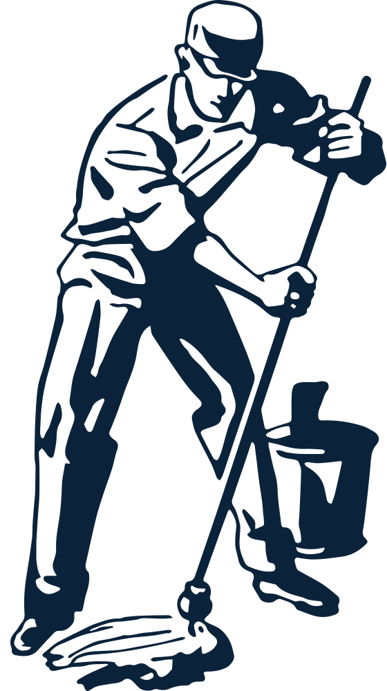 Janitor clipart transparent. Png black and white png freeuse library