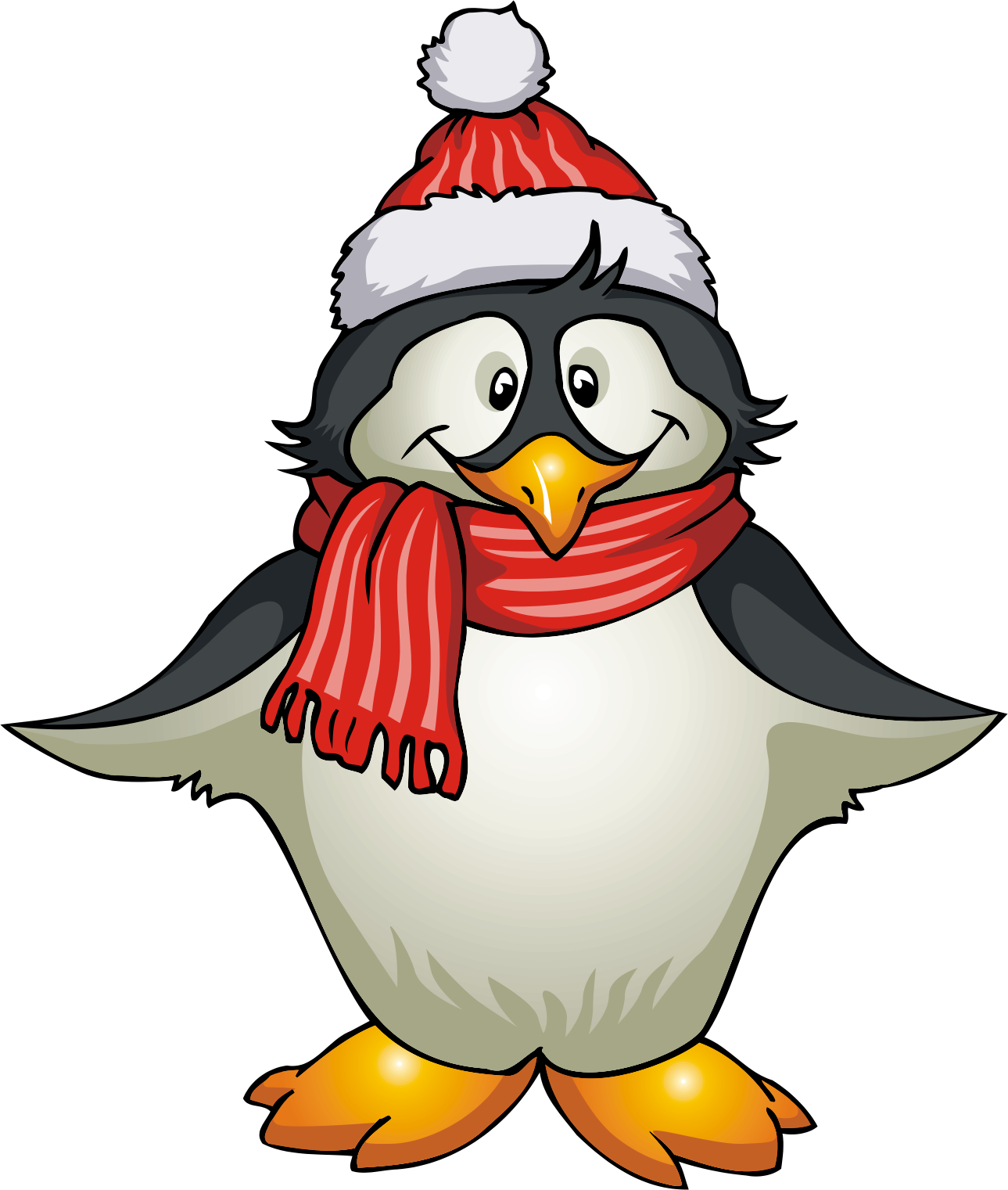 January clipart penguin.