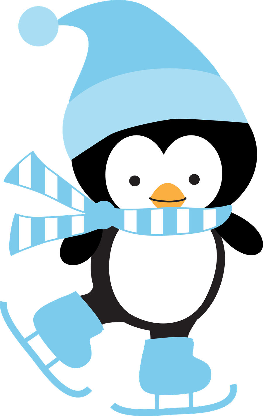 January clipart penguin. C b d