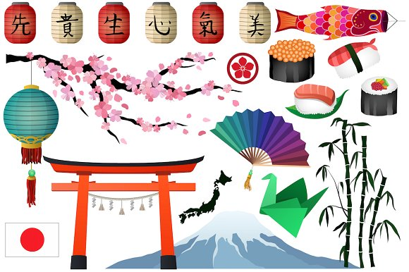 Japan clipart. Japanese asian vector png