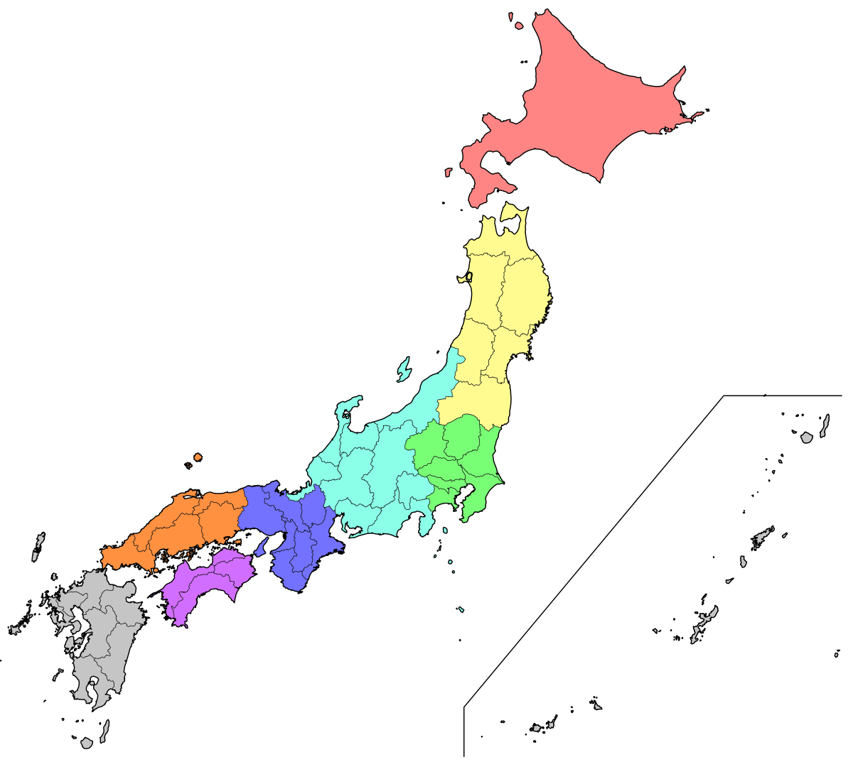 Japan map png. List of regions wikipedia