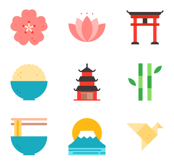 Japan png. Icon packs vector