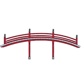 Japanese bridge png. Game art and unity