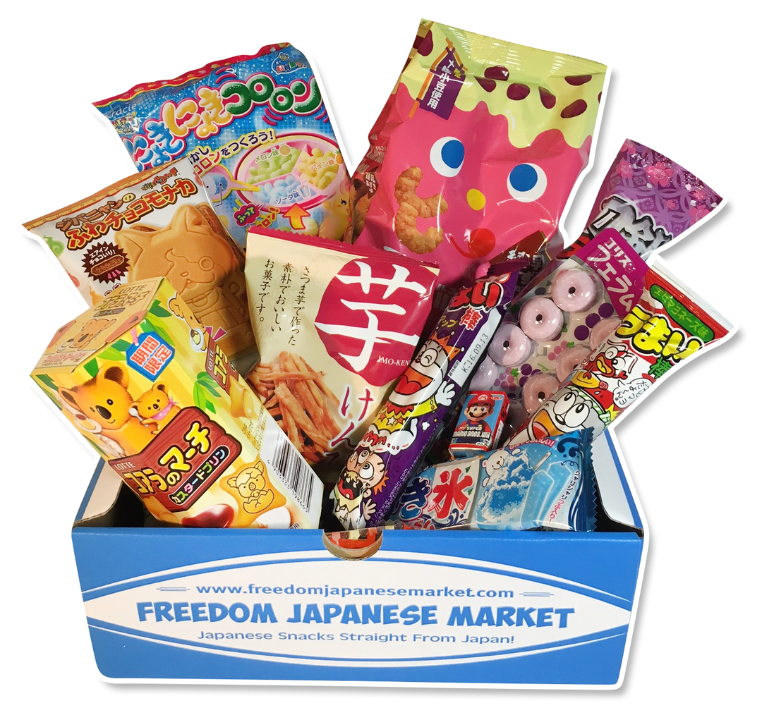 Japanese transparent sweet. Candy and snack subscription