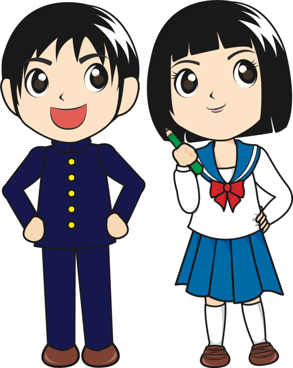 Japanese clip cartoon. Student download school free