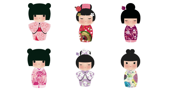 Japanese clip doll. Dolls free icons icon