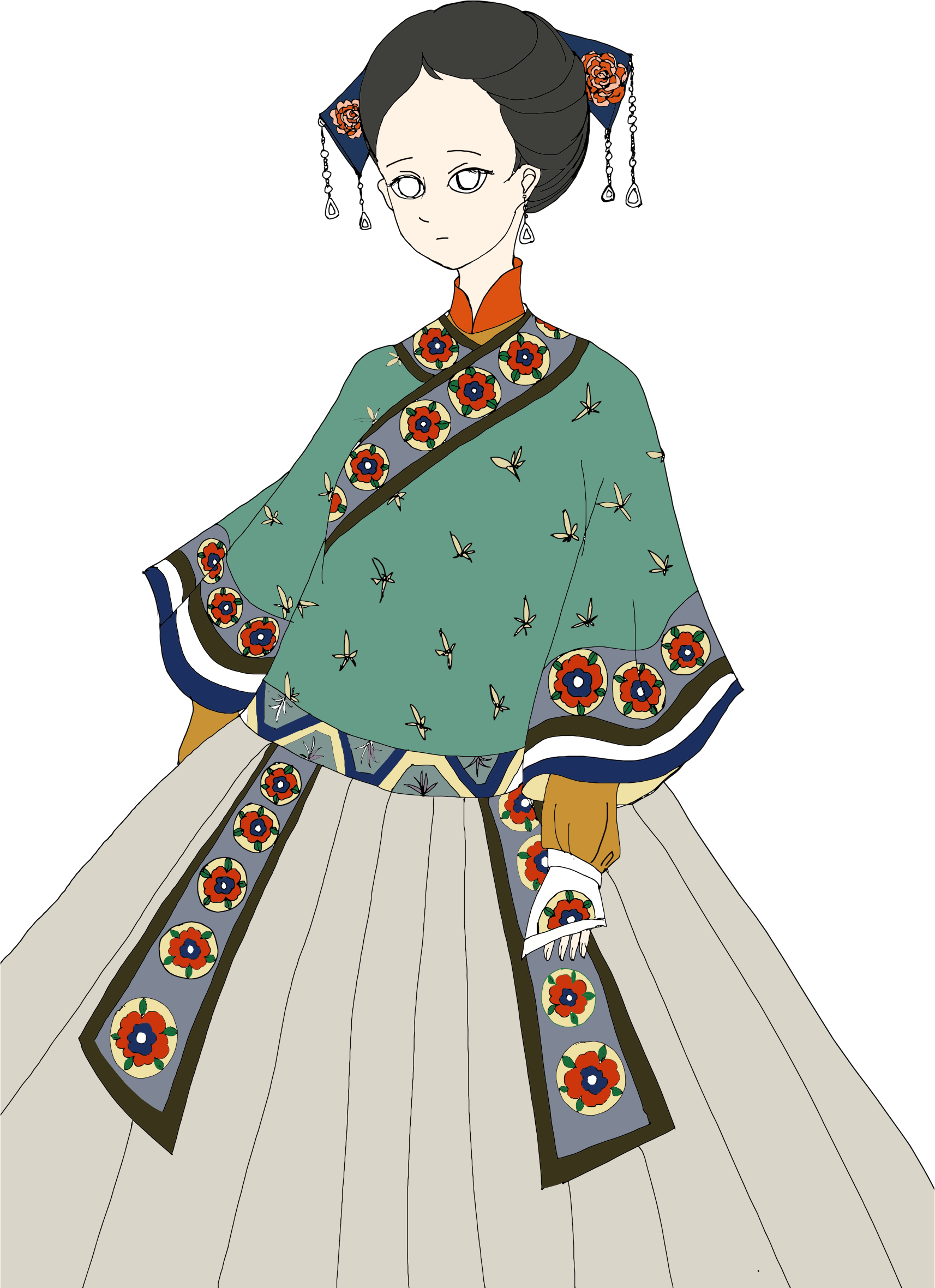 Japanese clip woman. Clipart big image png
