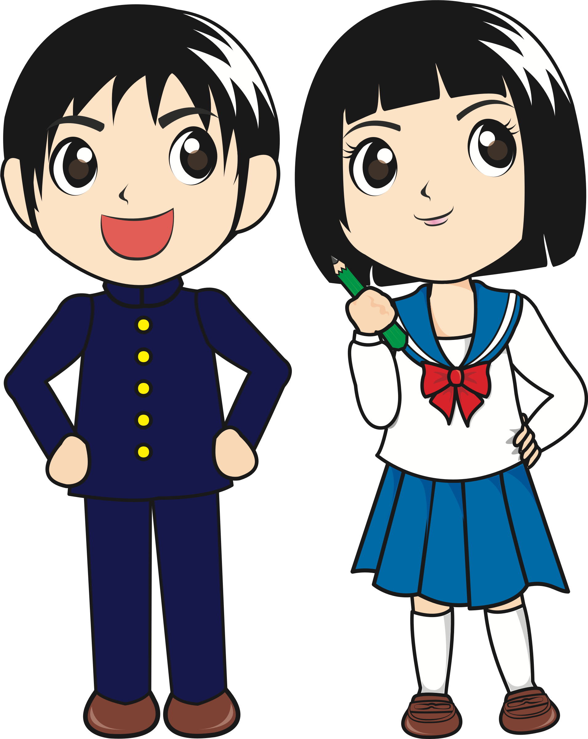 Japanese clipart. Students big image png