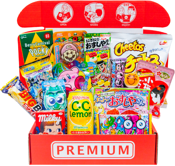 Japanese crate png. Japan candy snacks box