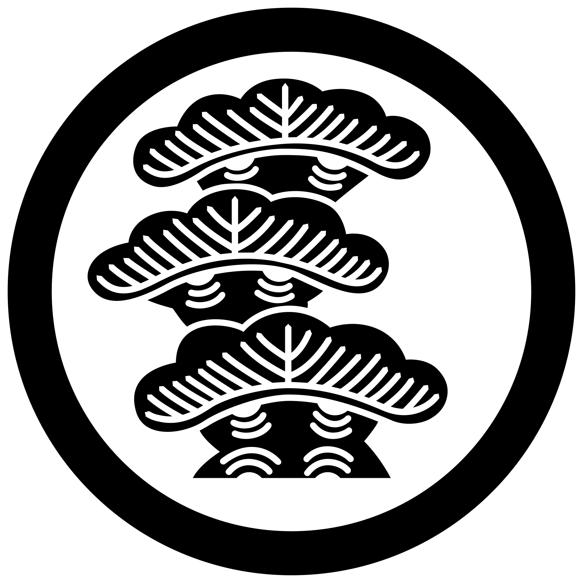 Japanese family crest png. File three pine trees