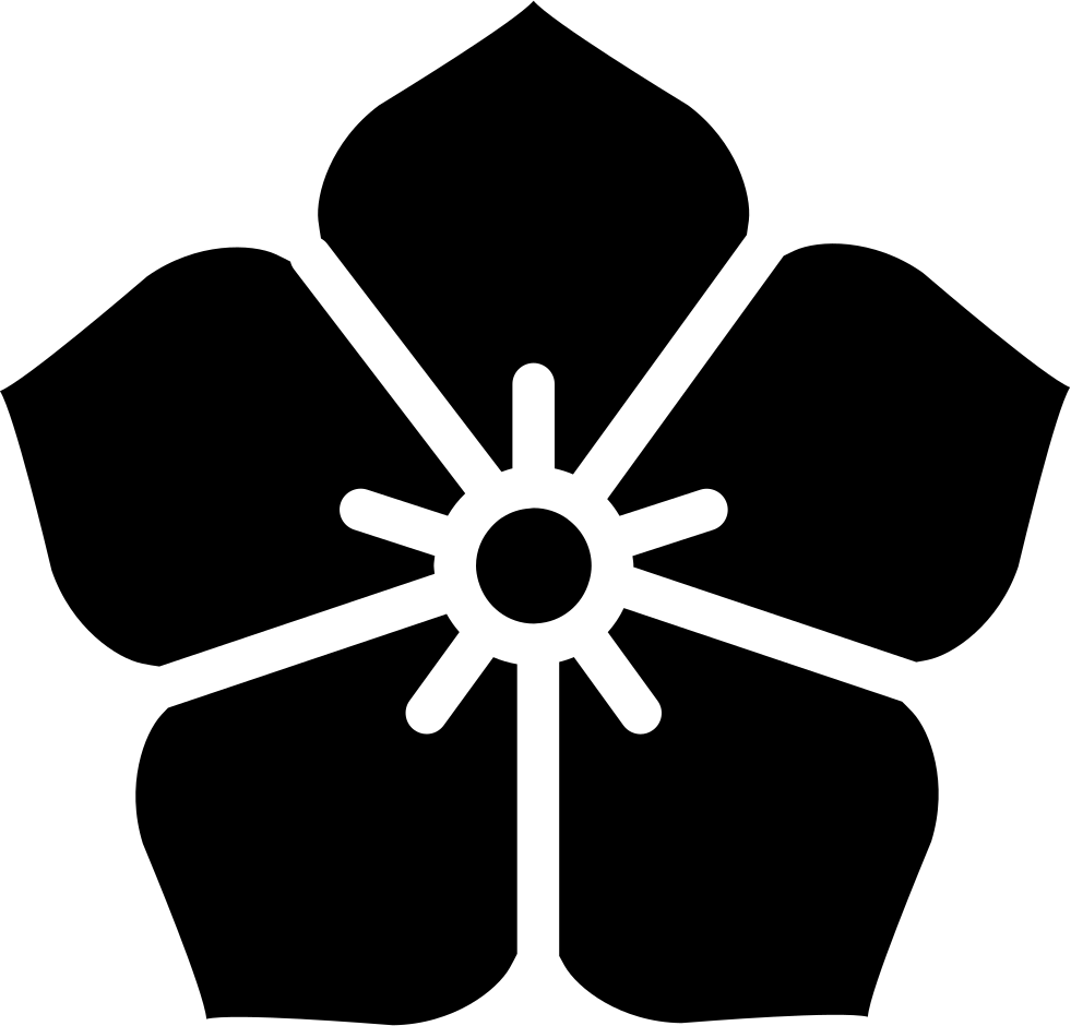 Japanese flower png. Svg icon free download