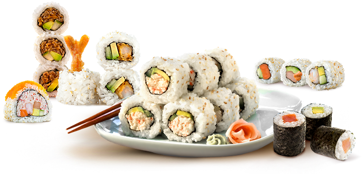 Sushi plate png. California food transparent images