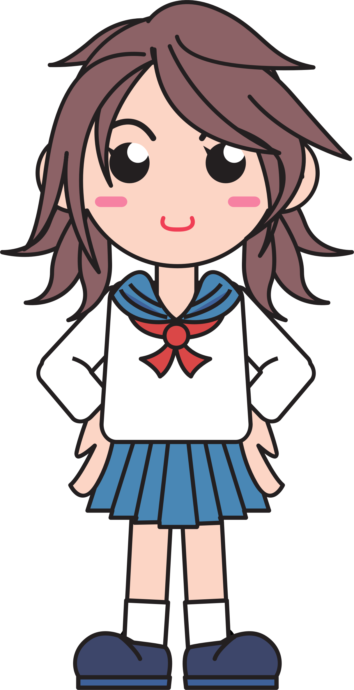 Japanese school girl png. Clipart big image