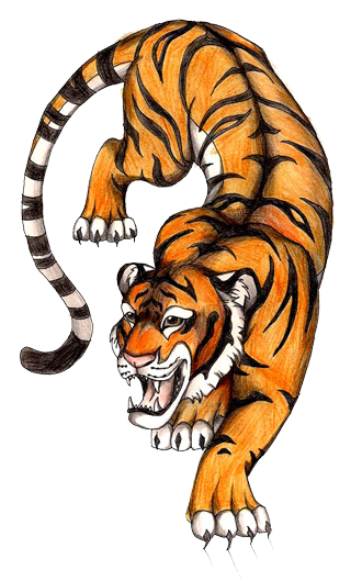 Japanese transparent tiger. Jantes png image related