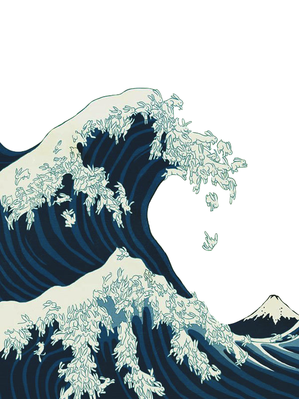 Japanese wave png. Source transparalyze my style
