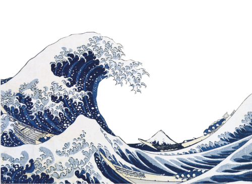Japanese wave png. Stuff edits pinterest