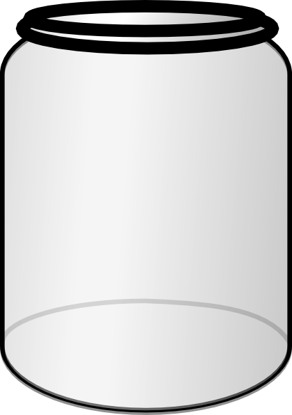 Jar clipart large. Open with no top