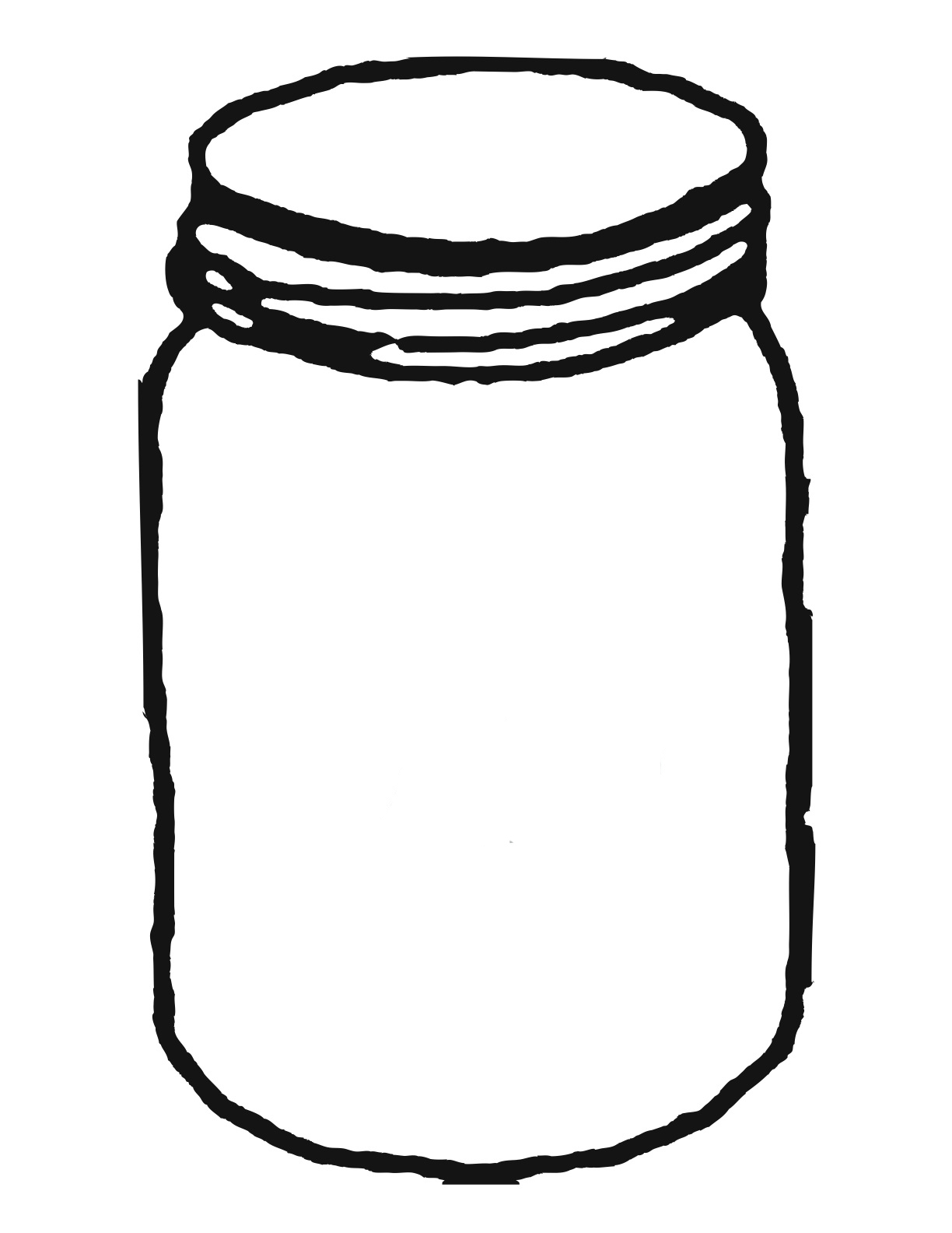 Jar clipart large. Template for mason clipartwiz