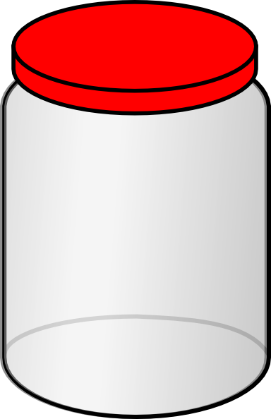 Jar clipart large. With red lid clip