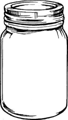 Jar clipart large. Mason illustrations an ink