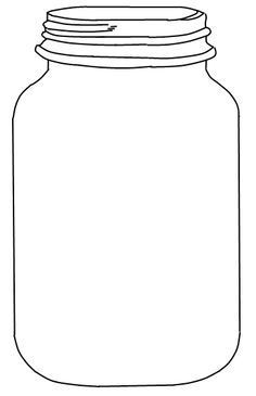 Jar clipart large. Free mason template shapes