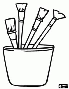 Jar clipart paint jar. Brushes in