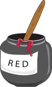 Jar clipart paint jar. Free red image school