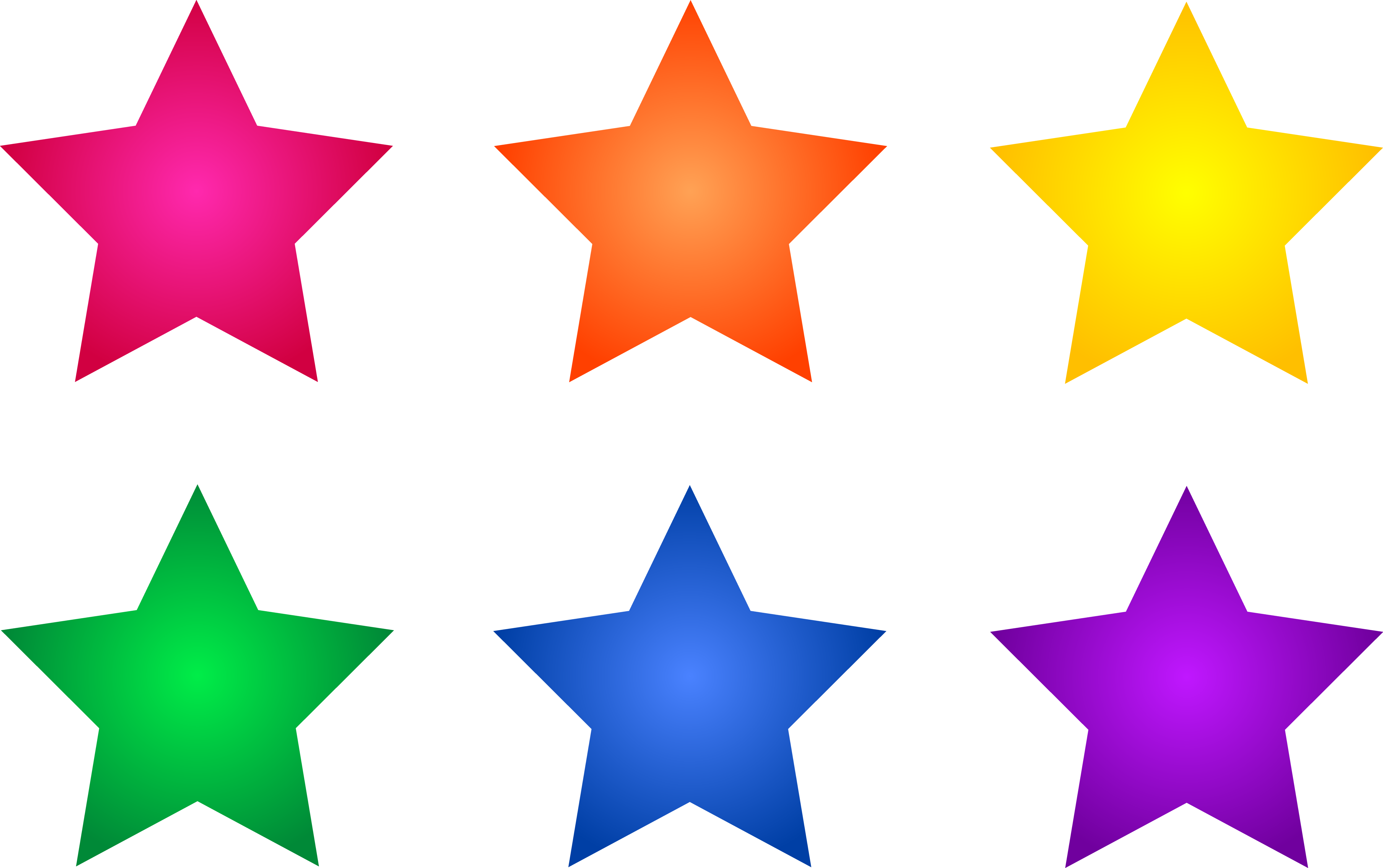 Colored clipart cartoon. Free star images download