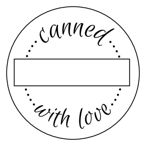 Jar labels png. Canned with love write