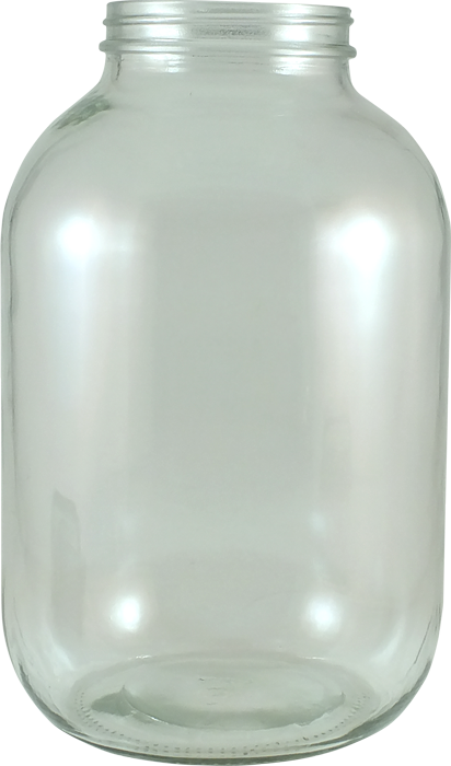 Jar transparent 1 gallon. Glass flint jars