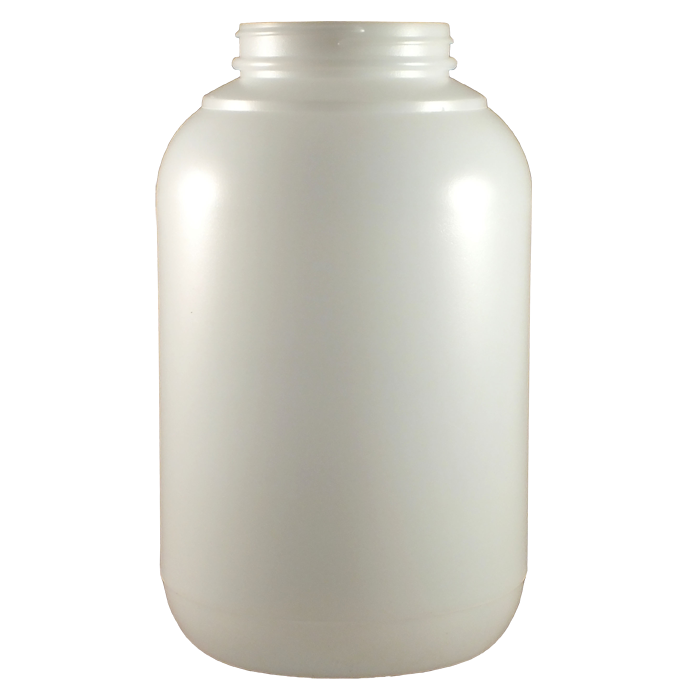 Transparent jar 1 gal. Gallon natural hdpe