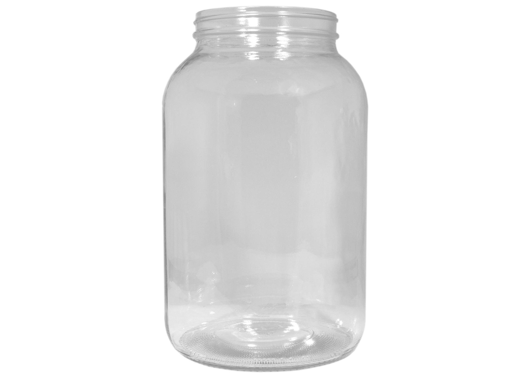 Transparent jar 1 gal. Containers and lids glass