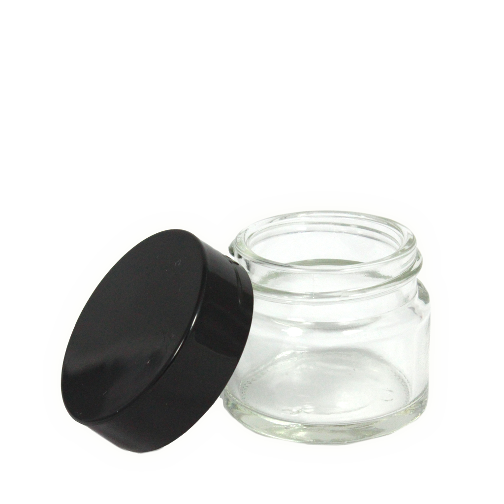 Transparent jar 15 ml. Clear glass tinderbox