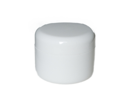Transparent jar 15 ml. White plastic containers aromantic