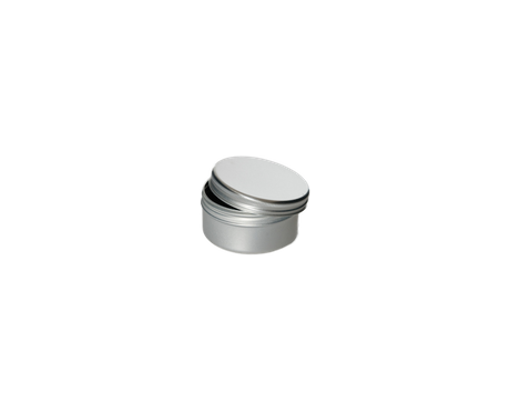 Transparent jar 15 ml. Aluminium with screw lid