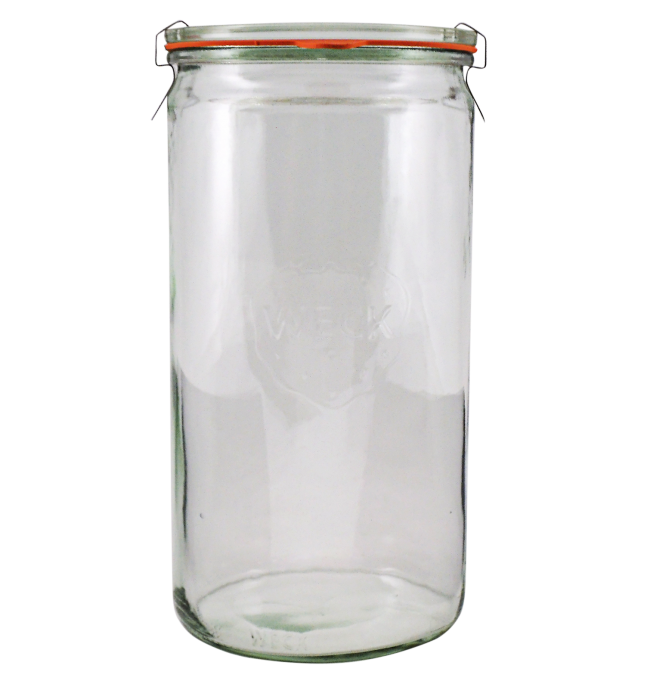 Transparent jar flip top. Weck l worldclassvanilla