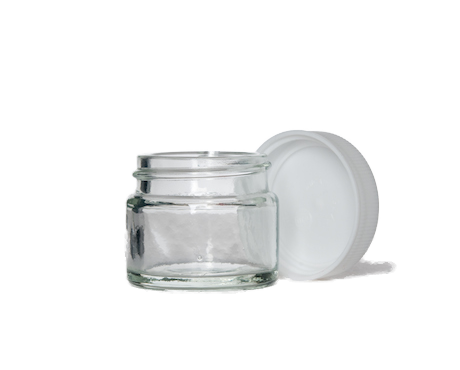 Jar transparent. Clear glass ml containers