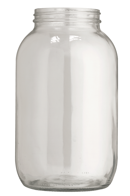 Jar transparent 64 oz. Tall wide mouth br