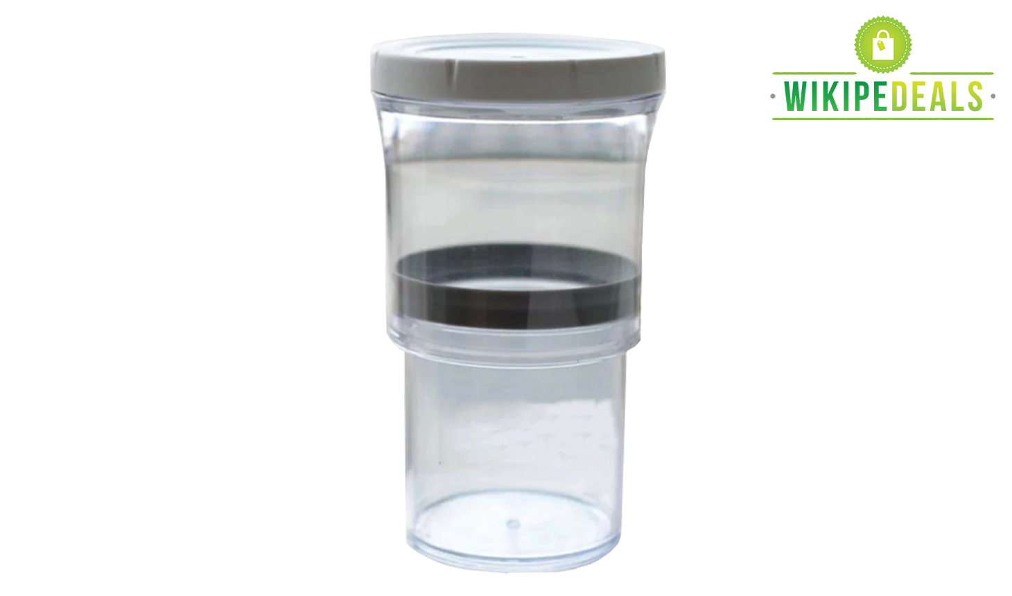 Jar transparent airtight. Vacuum