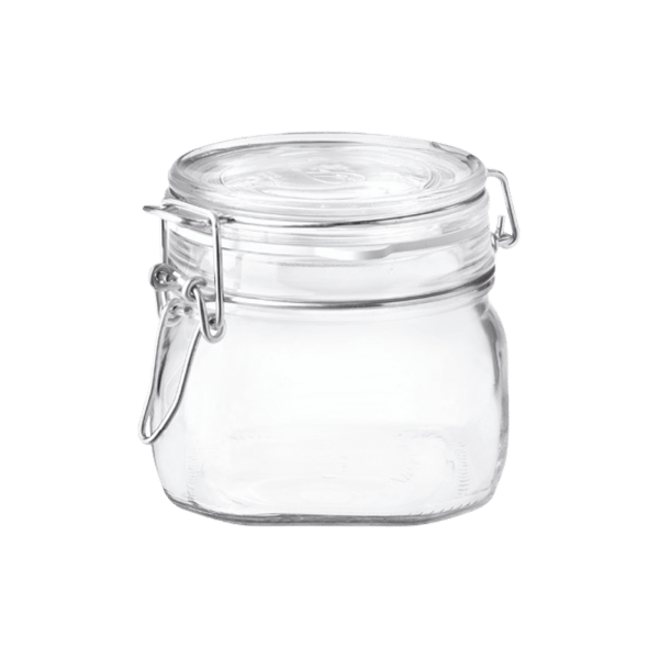 Jar transparent airtight. Oz fido bormioli rocco