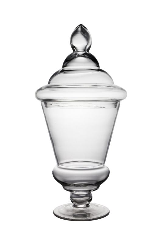 Transparent jar apothecary. X in clear