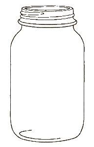 Transparent jar background. Collection of mason