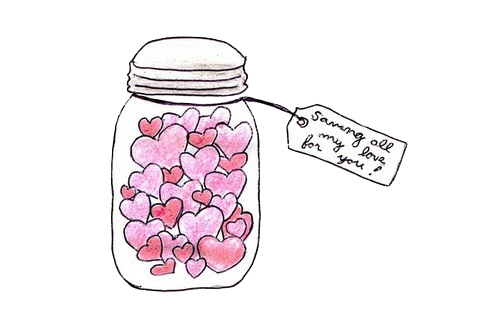 stickers transparent jar