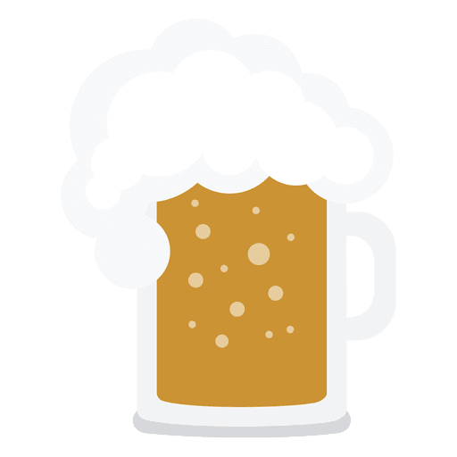 Transparent beer jar. Illustration png svg vector
