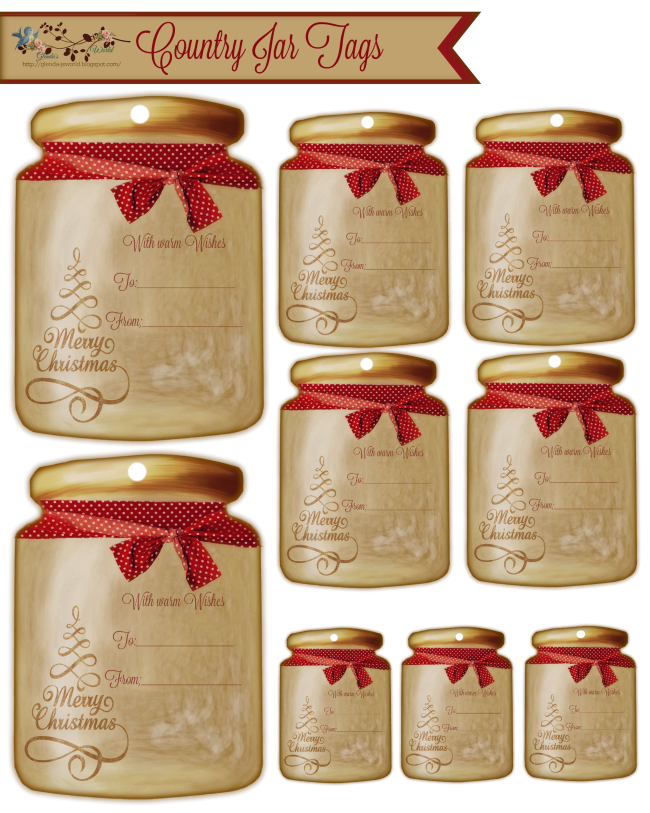 Jar transparent print. My country tags believe