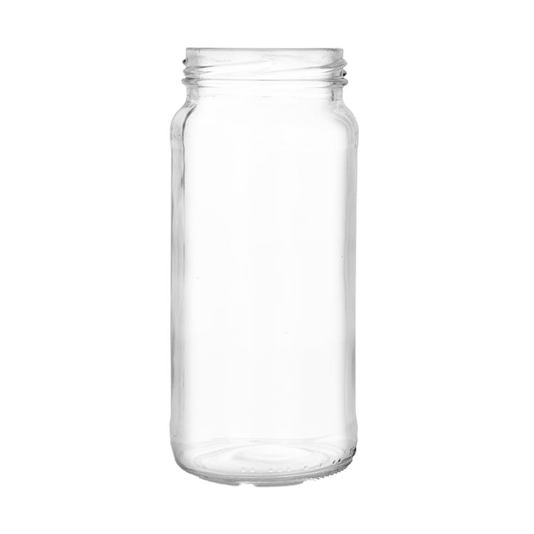 Transparent decals glass jar. Jars for food sauce