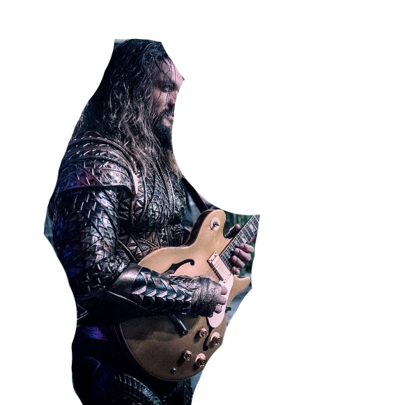 Rockin out render by. Jason momoa aquaman png clip art black and white stock