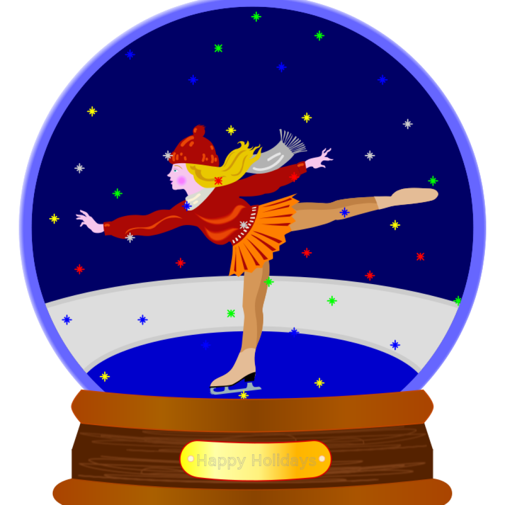 Snowglobe drawing city. Clipart free download animated