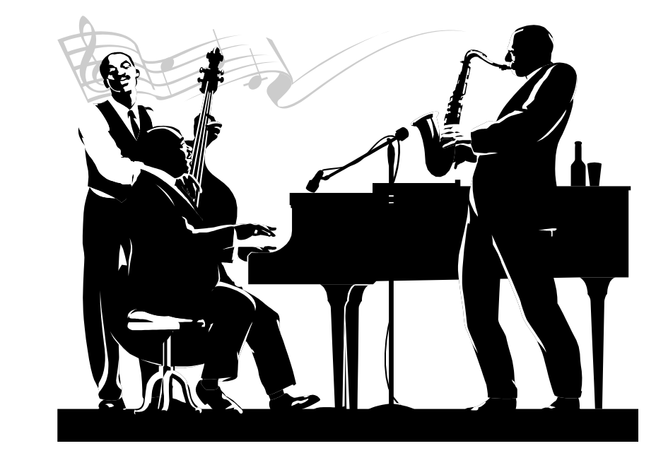 Jazz clipart band live. Music clients promo services